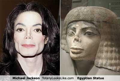 Jackson statue égyptienne