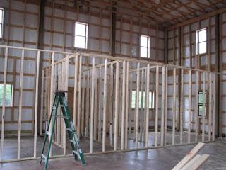 Texas Barndominium Interior Framing