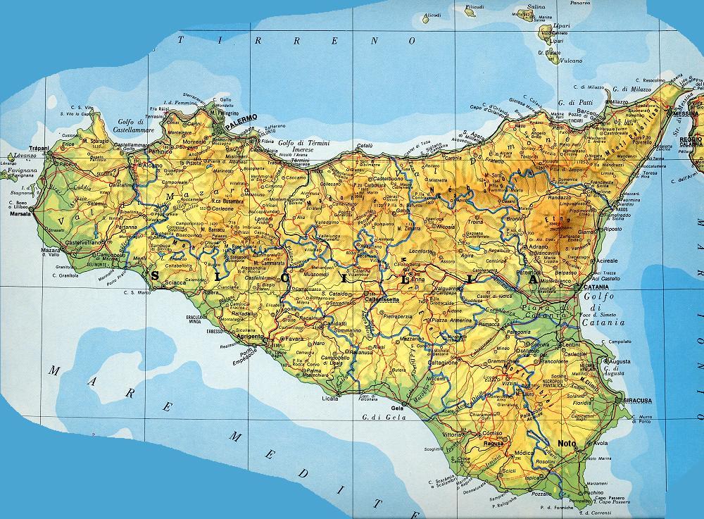 Где на карте находится этна