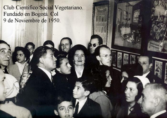 Club Científico Social Vegetariano. Fundado en Bogotá, Colombia. El 9 de Noviembre de 1950.