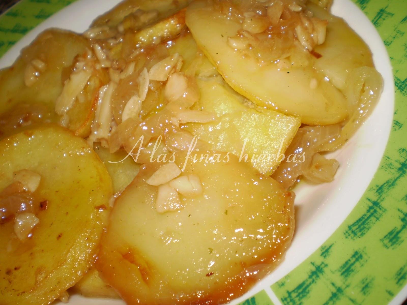 A las finas hierbas guarnici n de patatas al horno - Patatas pequenas al horno ...