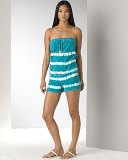 Juicy Couture Tie-Dye Strapless Romper