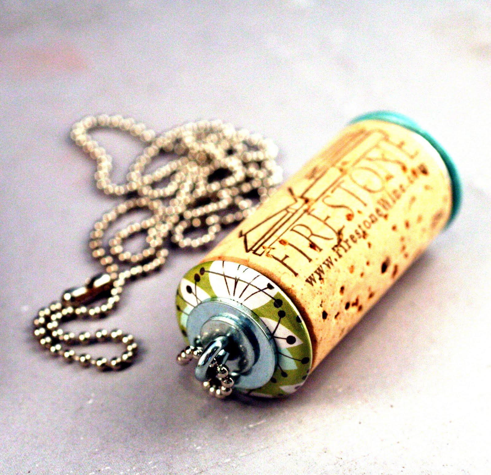 DIY Wine Cork Necklace