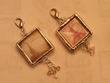 1 inch soldered glass charms $13.00 each