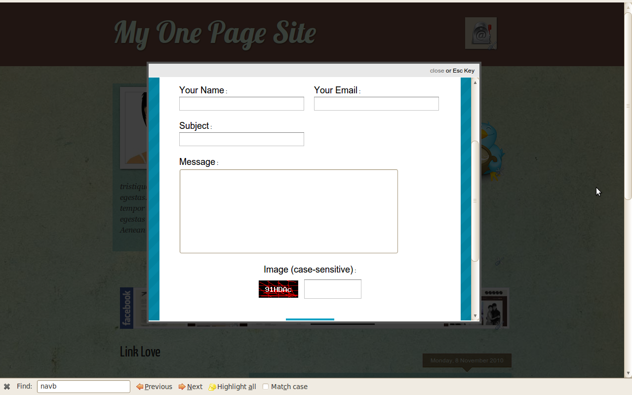 Blogger Buster: Add a Lightbox-Style Contact Form to your Blog