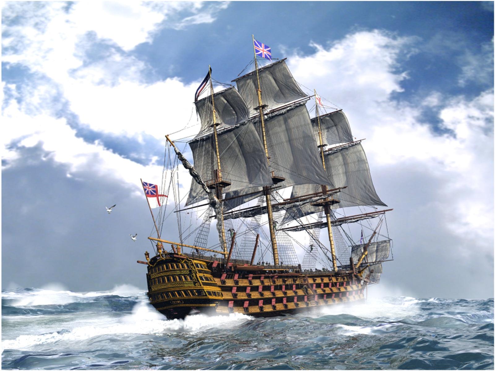 screen decoration: Free 3D Sailing Ship 1600 x 1200 Pixel ...