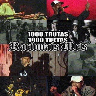 Capa do álbum Racionais Mc's 1000 Trutas 1000 Tretas (2006)