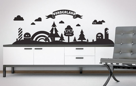 stickers personnalis s astuces d co comment poser des stickers. Black Bedroom Furniture Sets. Home Design Ideas