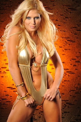 Torrie Wilson in Golden Bikini