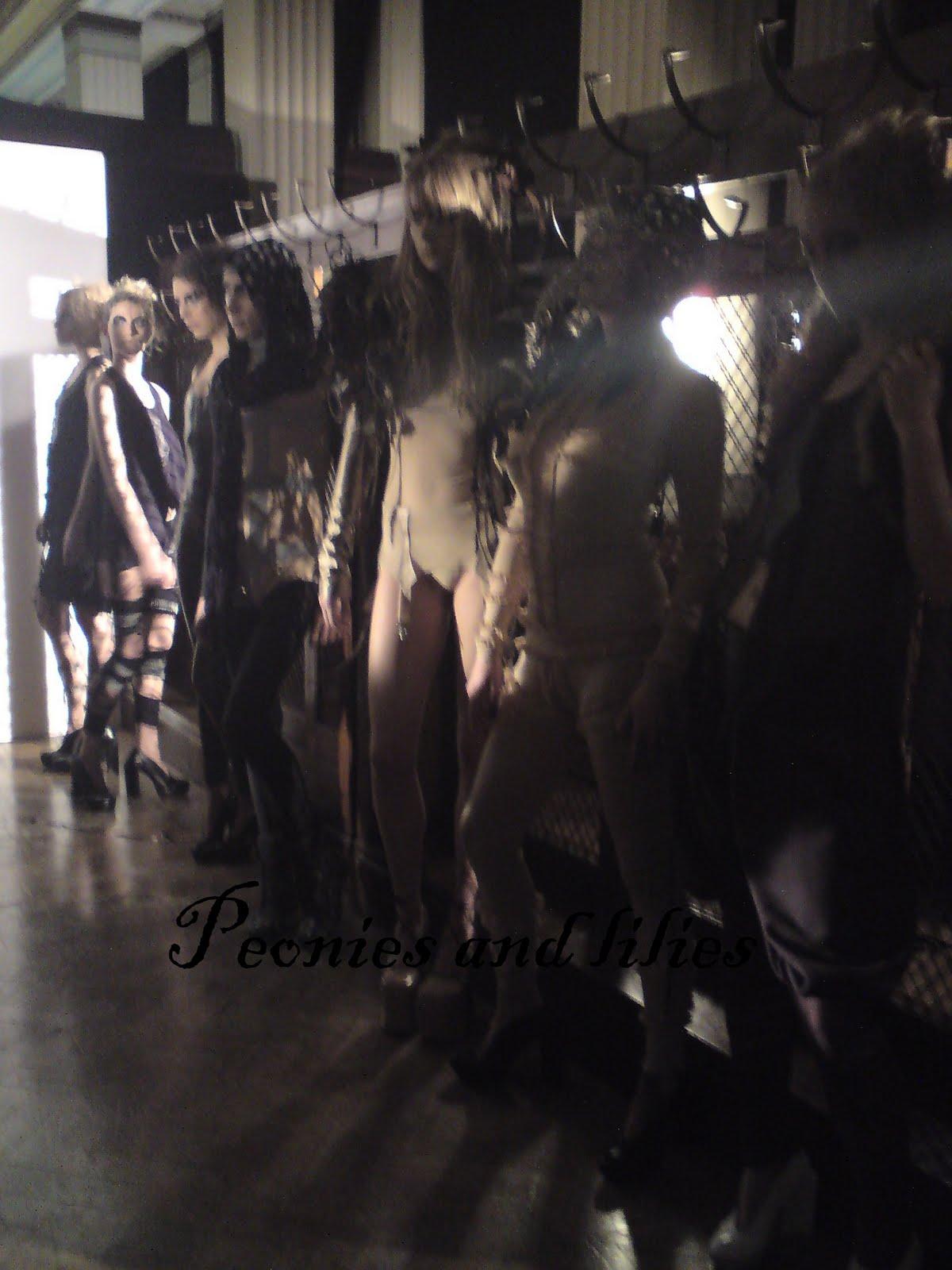 Nude fashion backstage pics