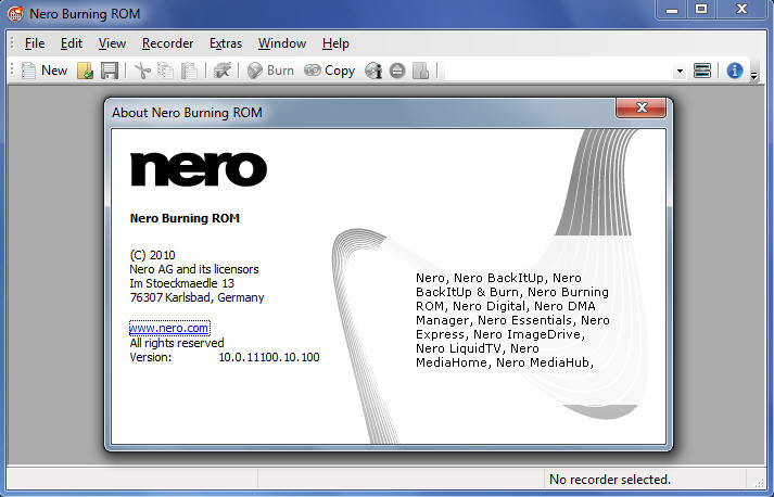 Nero burning rom v10.0.11100 portable nero icon