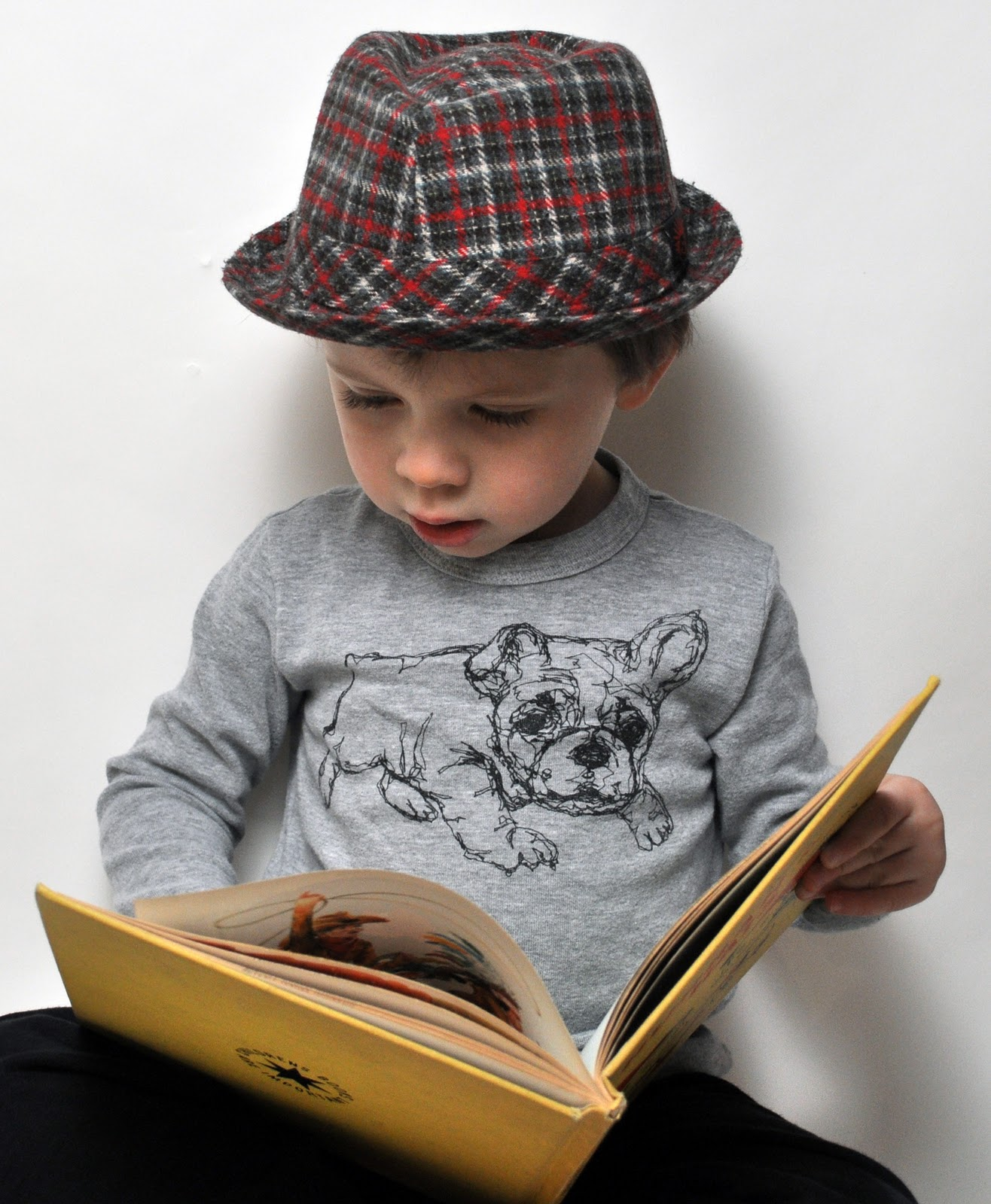 boy with bulldog shirt