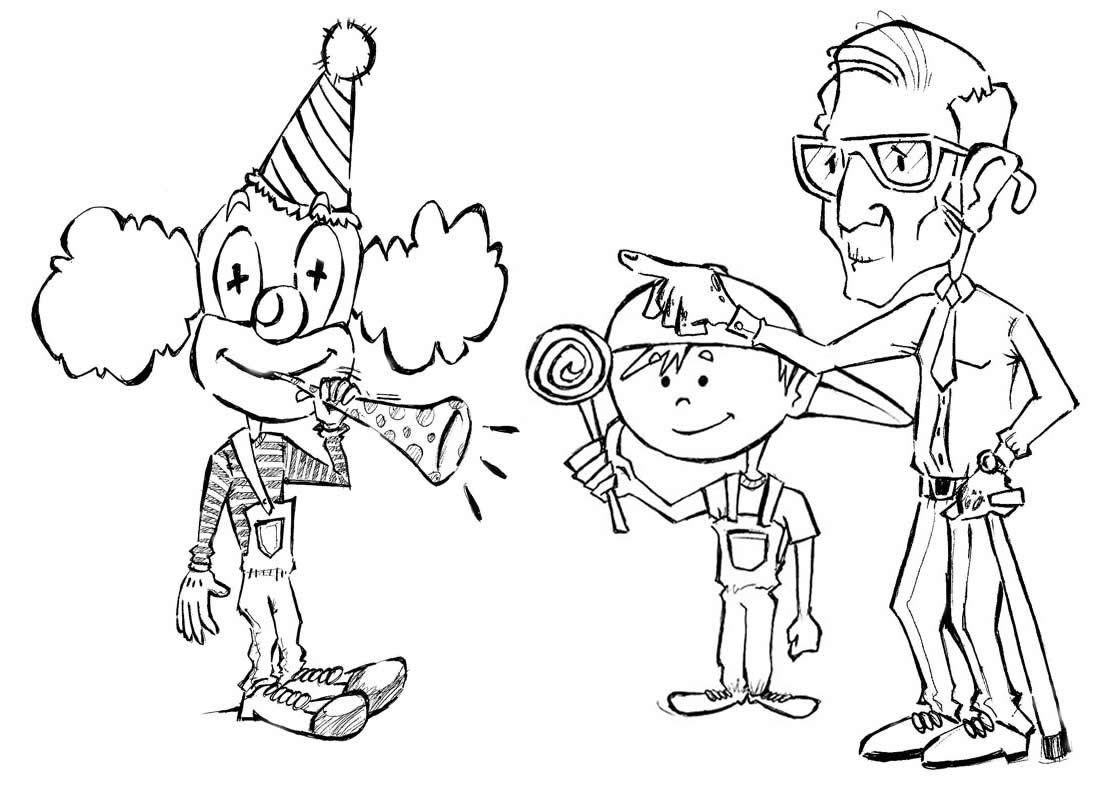 desenho de palhaço desenho infantil para colorir desenhos para