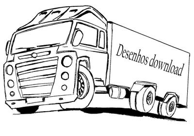 desenho de caminhão para colorir desenho infantil para pintar