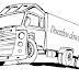 Desenho de caminhão para colorir. Desenho infantil para pintar