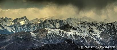 Catena del Monte Rosa ripresa dal Mottarone
