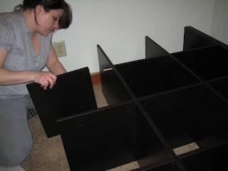 assembling the bookcase