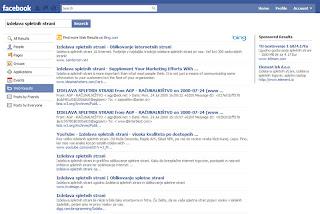 Bing na Facebooku