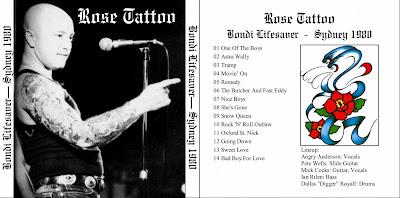 Rock On Vinyl Rose Tattoo Live At Bondi Lifesaver 1980