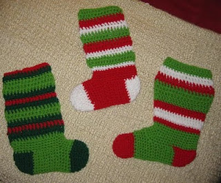 Pottage Publishing - Free Crochet Patterns - Christmas Stocking