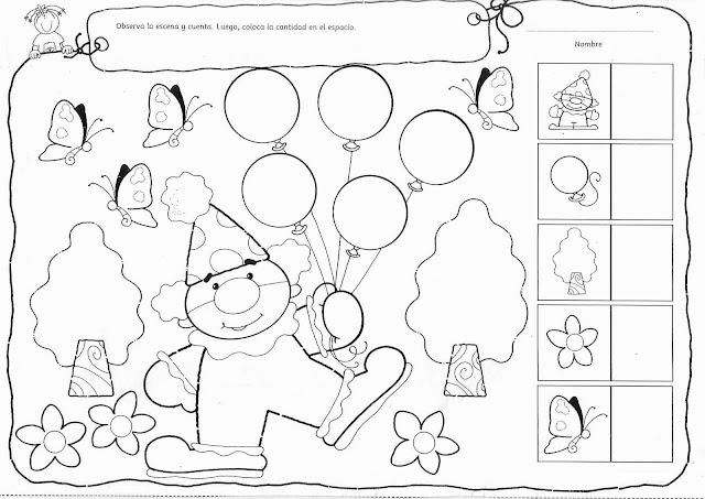 Dibujos de actividades de los numeros en preescolar - Imagui