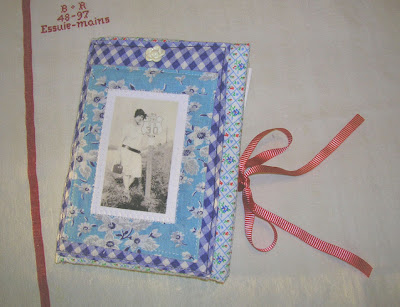 ... Fabric Collage Organizer - Card Holder - Letter Hol