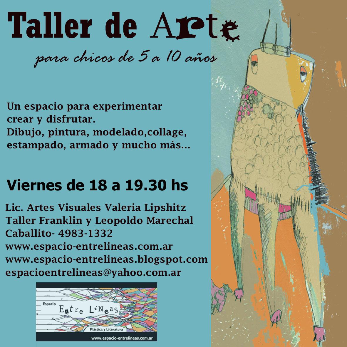 Espacio entrelineas taller de arte para chicos viernes de for Taller de artesanias