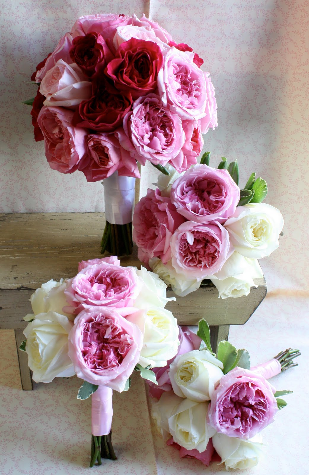 Bella fiori designs flowers for weddings in washington seattle everett flower inspiration - Garden rose bouquet ...