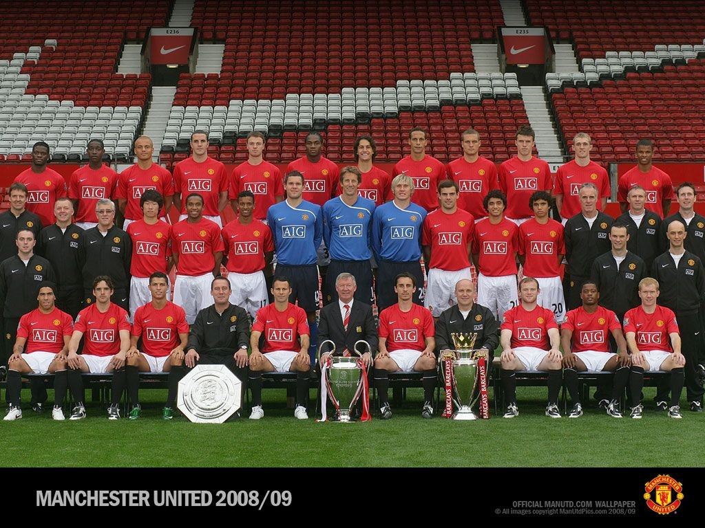 Manchester united fc squad manchester united 2007 2010