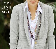 shop Love Live & Give jewelry