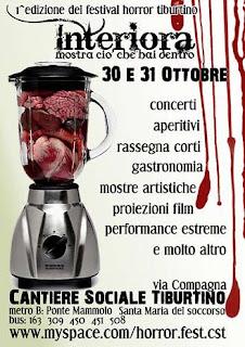 Interiora Festival horror tiburtino 2009 poster