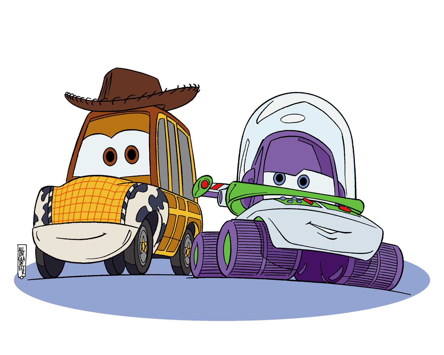 how to draw woody and buzz from toy story