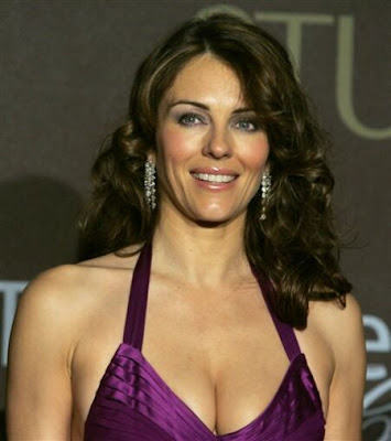 Elizabeth Hurley Flaunts Cleavage At Fundraiser