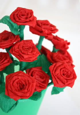 Filth wizardry mini roses from dollar store crepe paper streamers when i was about ten years old we had our villages first summer festival where one girl from the local primary school got to be the carnival queen mightylinksfo