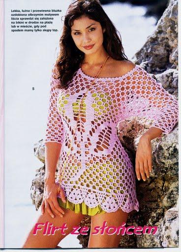 Saida de praia bem facil de fazer croche