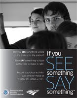See something say something poster.
