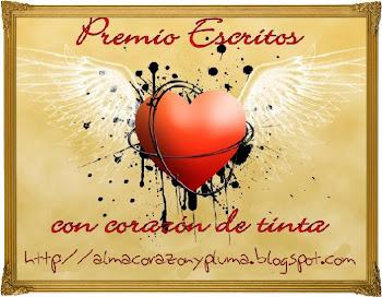 PREMIO ESCRITOS CON CORAZON DE TINTA!!!