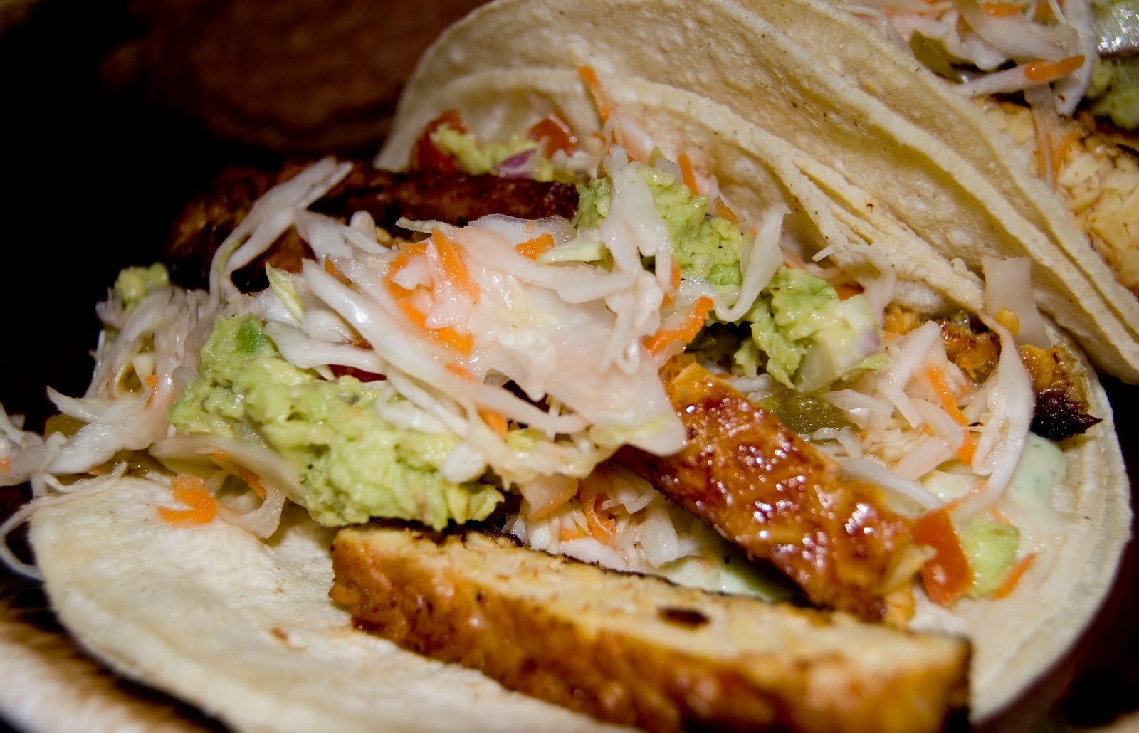 Vegan Food Stuff: Baja Tempeh Tacos (Veganomicon)