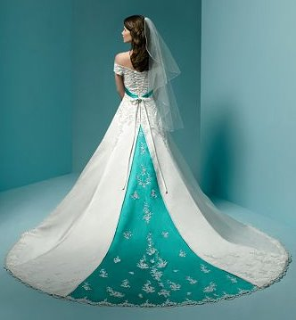 Green Colored Wedding Dress Style