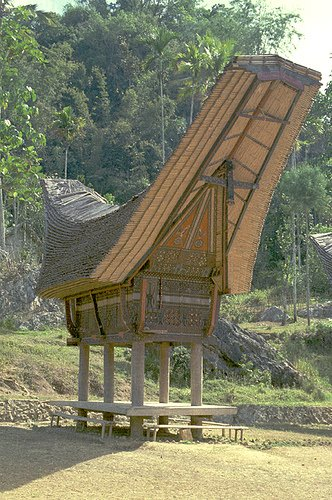 Traditional artistic house design of Toraja house