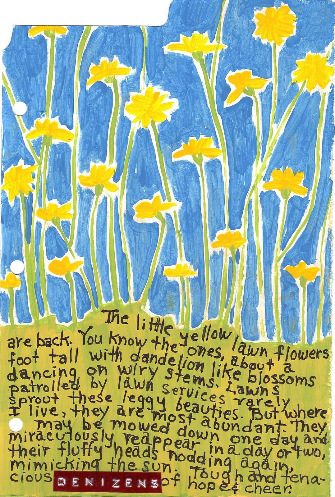 Simply Inspired Yellow Flowers Poem