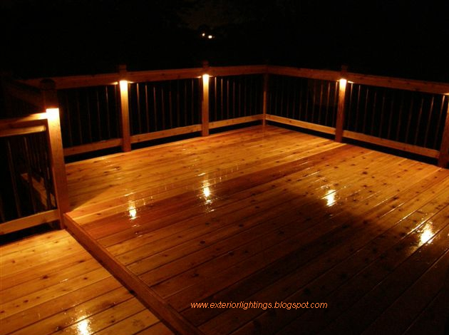 Exterior lighting exterior lighting for homes deck for Balcony lighting ideas