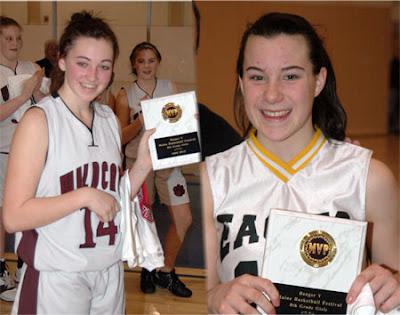 All Tournament Team for Bangor Y Maine Basketball Festival 7/8 grade girls