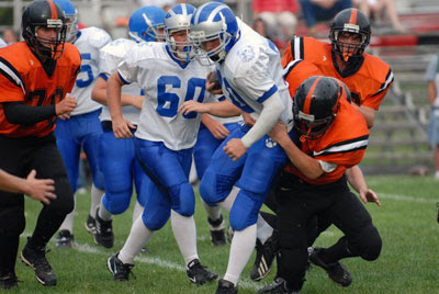 Lawrence runs past Brewer 35-6 in freshmen football