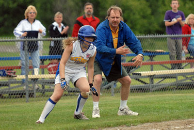 Wilcox leads Hermon to victory over Lincoln in 11-12 District softball tourney