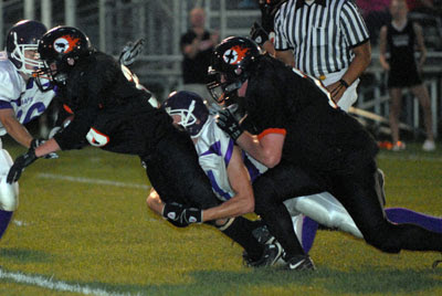 Witches run past Crusaders in pre-season football scrimmage