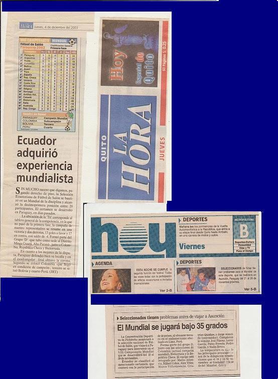 DECIMO  SEGUNDOS DEL MUNDIAL PARAGUAY 2003