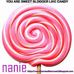 ♥ Award : YOU ARE SWEET BLOGGER LIKE CANDY ♥