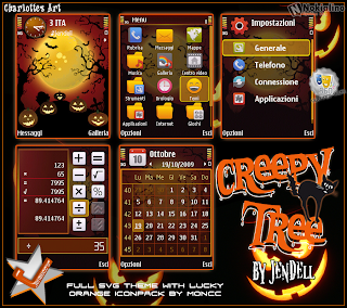 Creepy Trees by Jendell s60v3 theme for nokia phones