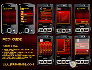 Red Cube by Blue_Ray for Nokia s60v3  Fp1 and Fp2 Phones